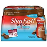 Slim-Fast! 3-2-1 Ready To Drink, Low Carb, Creamy Chocolate, 10 Ounce (Pack of 12)