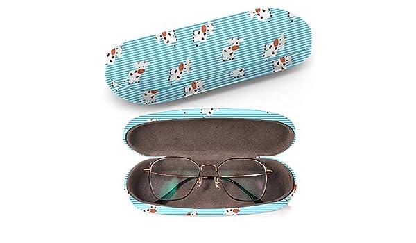 Funda rígida para gafas, estuche de gafas de sol, caja de plástico, funda de gafas con paño de limpieza (dibujos animados Baby Cow Animal Flat): Amazon.es: Ropa y accesorios