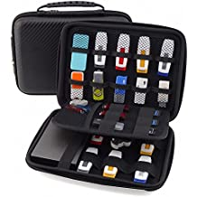 GUANHE Multifunction Universal Digital Large Organizer Case Waterproof Electronic Accessories Storage Bag For USB Flash Drive Charger Cable Earphone Power Banks Hard Drive In Black