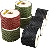 3'' DAMO Wet Polishing Drum Wheels Set of 7 PCS for Granite/Marble/Concrete Sink Cutouts