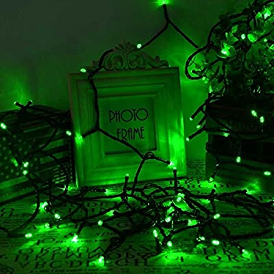 lederTEK Decorative Solar Powered Christmas Lights 200 LED Green 72ft 8 Modes Fairy String Light for Garden Decor, Holiday, Lawn, Patio, Wedding, Party, Home Decorations, Indoor, Outdoor, Xmas Tree