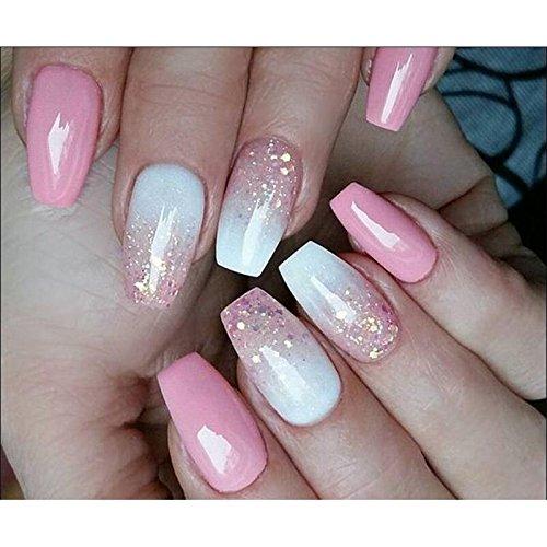 Ballerina - Puntas para uñas (100 unidades), para cosméticos de uñas, uñas artificiales falsas, bricolaje, uñas, uñas para arte de uñas, uñas acrílicas, ...