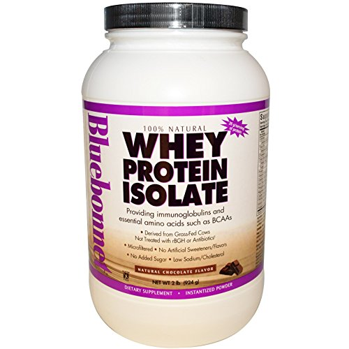 Bluebonnet Nutrition, Whey Protein Isolate, Natural Chocolate Flavor, 2 lbs (924 g) - 3PC by Bluebonnet Nutrition