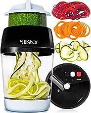 fullstar Vegetable Spiralizer Vegetable Slicer - 3 in 1 Zucchini Spaghetti Maker Zoodle Maker - Veggie Spirali
