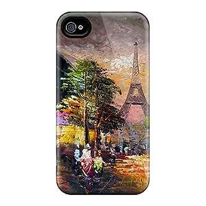 Premium Tpu Paris In Oil Cover Skin For Iphone 4/4s