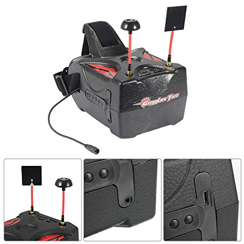 XCSOURCE Eachine Goggles Two 5'' Diversity 40CH Raceband HD1080p HDMI Wireless FPV Video Headset Glasses for Quadcopter Recording AH337 by XCSOURCE (Image #5)
