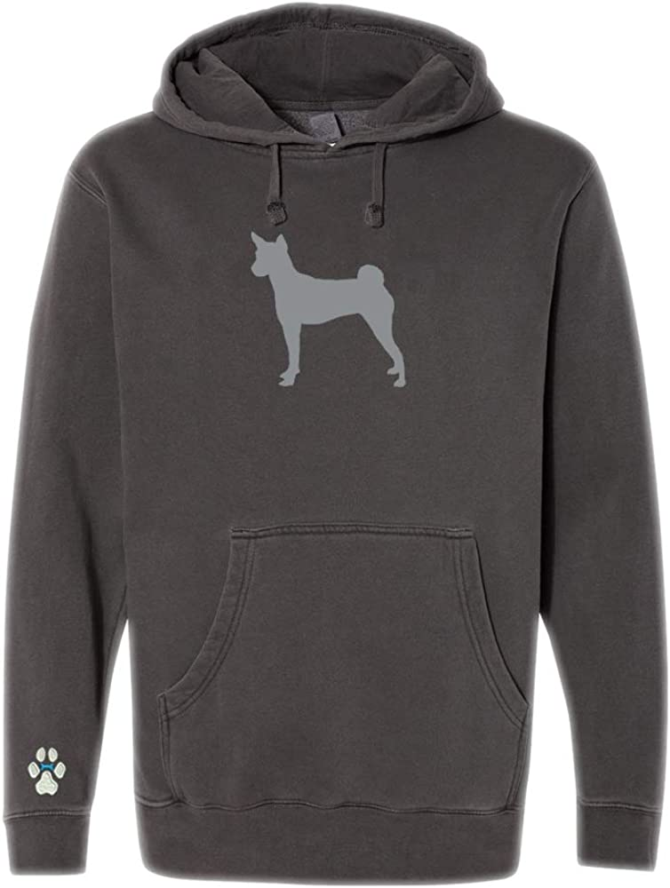 Heavyweight Pigment-Dyed Hooded Sweatshirt with/Basenji Silhouette