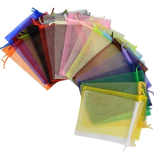 Review Tojwi 50pcs Organza Bags-Mix