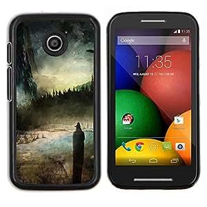 Ciel - Metal de aluminio y de plástico duro Caja del teléfono - Negro - Motorola Moto E / XT1021 / XT1022