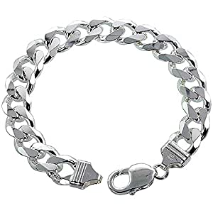 Revoni - Collar de plata de ley con cadena cubana