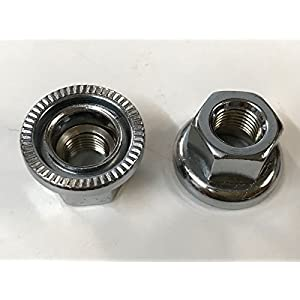 2pc Track / Fixie Front Hub Axle Flange Nuts 9 x 1mm Swivel Washer