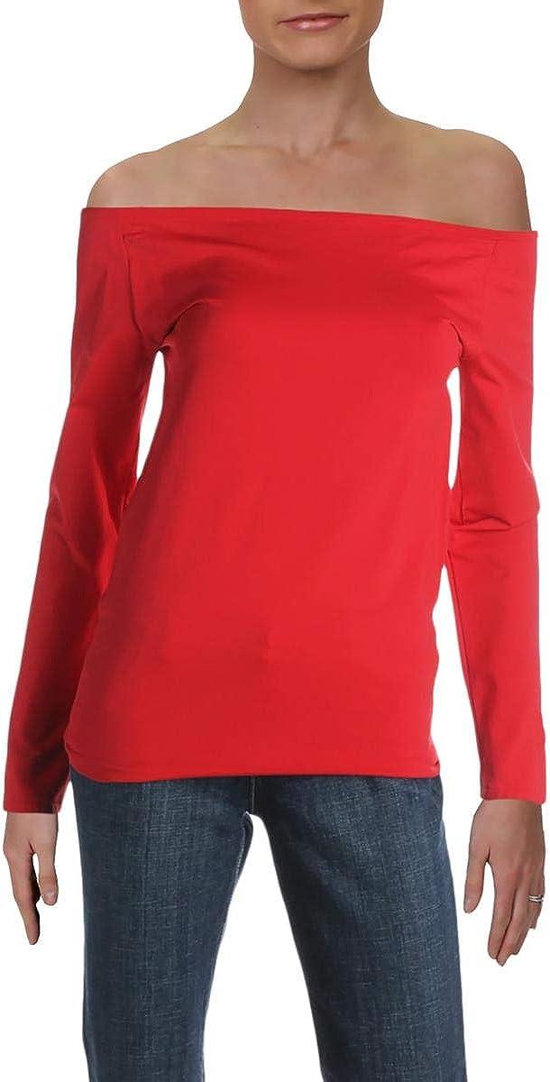 Helmut Lang Womens Open Boatneck lange Sleeve Pullover Top