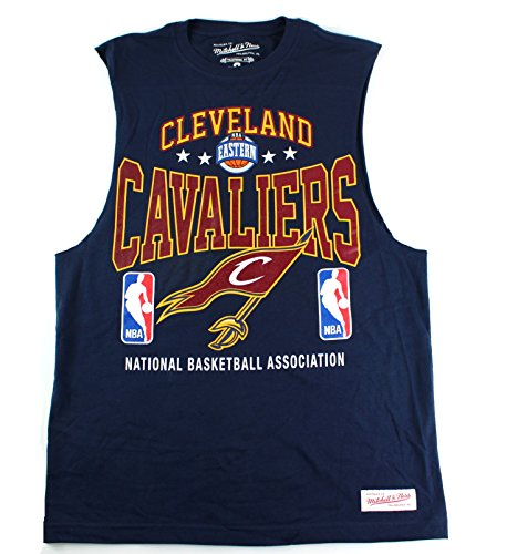 Cleveland Cavaliers NBA Mitchell & Ness Men's Power Rankings Sleeveless Muscle T-Shirt - Sims Apparel