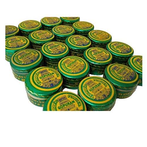 Gopuram Original Yellow Color Pure Turmeric Powder for Hindu Religious Pooja, Tilak, Havan, 20ct, 2gm - Havan Colour