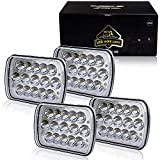 92 chevy 1500 hid headlights - TURBOSII DOT Approved 5X7 7X6In Led Headlight Hi/Lo Sealed Beam Replace H6054 Hid Headlamp Jeep Wrangler JK Cherokee XJ YJ JKU 4x4 Toyota Tacoma pickup Dodge Ram Ford F250 E350 Chevy Corvette van 4PCS