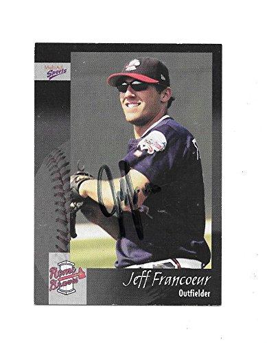 JEFF FRANCOEUR 2003 ROME BRAVES AUTOGRAPHED CARD -