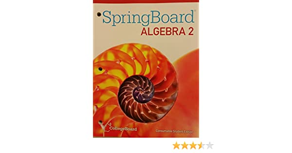 Bestseller: Springboard Algebra 2 Unit 1 Answer Key Pdf