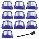 aero replacement filter - 10 Pcs Aero Vac Filters For Irobot 500/ 600 Series ,Roomba 500/600 Series Filters For Irobot 536 550 551 614 620 630 650 655 660 665 680 690 Robotic Vacuum Cleaner
