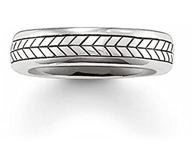 48ffc0296e25 Thomas Sabo Unisex Band Ring 925 Sterling Silver