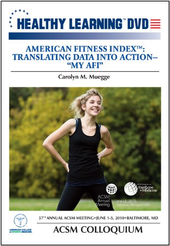 American Fitness Index: Translating Data Into ActionMy -