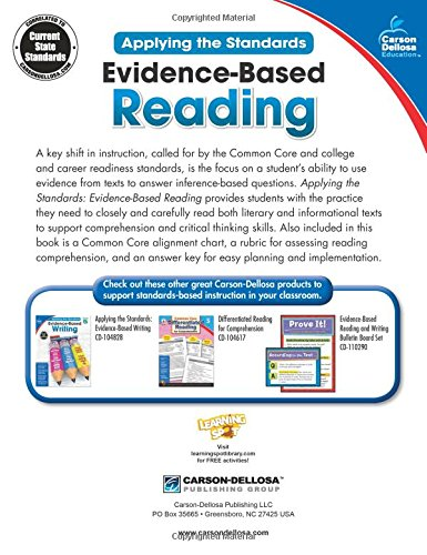 Amazon.com: Evidence-Based Reading, Grade 5 (Applying the ...