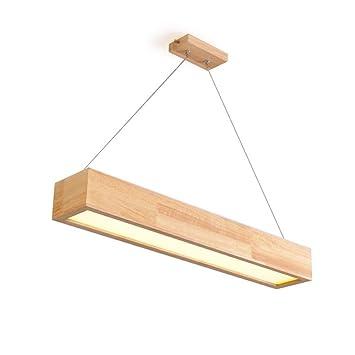 AFNWW EGLONE Pendelleuchte Modern Einfachheit Deckenleuchte Natürliche  Massivholz Kronleuchter LED Abgehängte Decke Beleuchtung Rechteck Decke  Kronleuchter