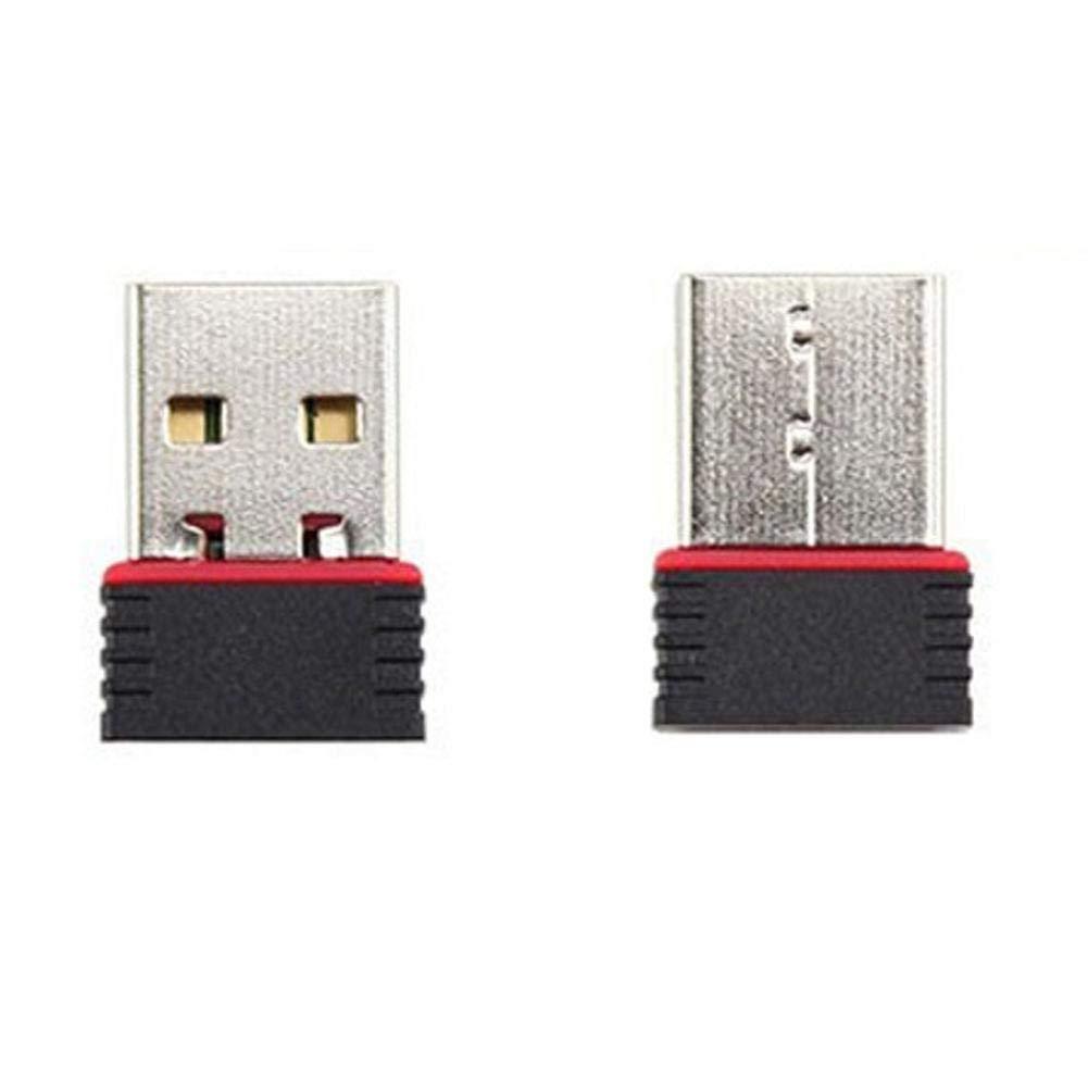 150 Mbps, 11n, Wi-Fi, USB, Compatible con Windows, Mac OS, Linux, Color Negro y Plateado Tarjeta de Red inal/ámbrica Febelle