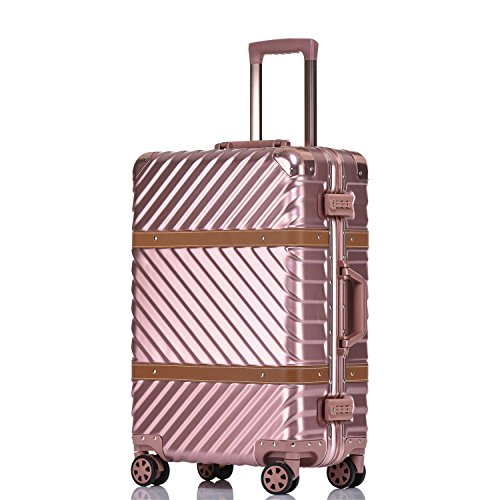 Unitravel Vintage Suitcase Hardshell Rolling Luggage Spinner Trolley Case With TSA (Lightweight Womens Luggage Set)