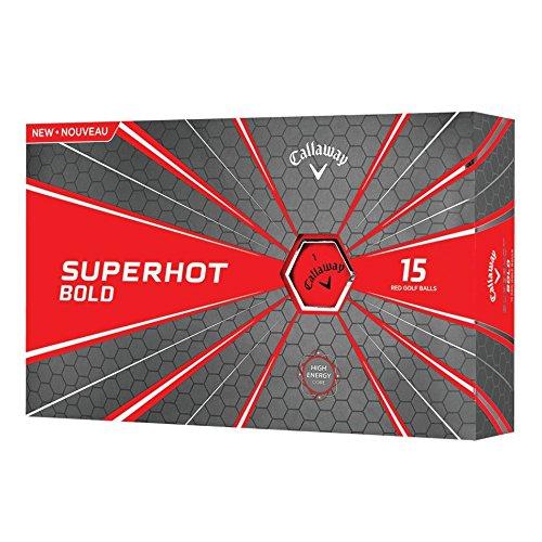 Callaway 2018 Superhot Golf Balls (Pack of 15), Bold Red