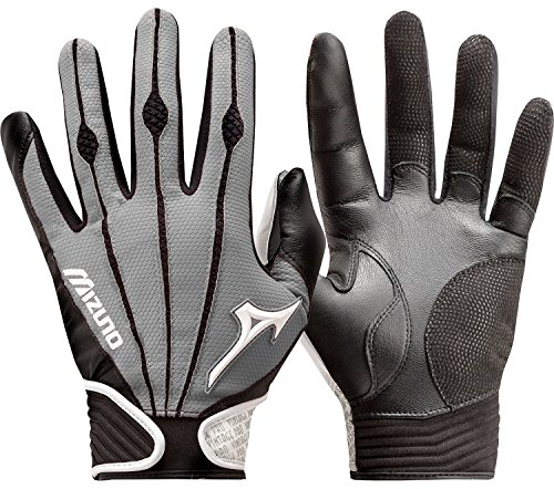 Mizuno Adult Vintage Pro Batting Gloves, Grey, Small