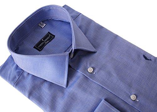 DOMENICO AMMENDOLA, camicia Firenze, Celeste Scuro, Regular Fit, Made in Italy