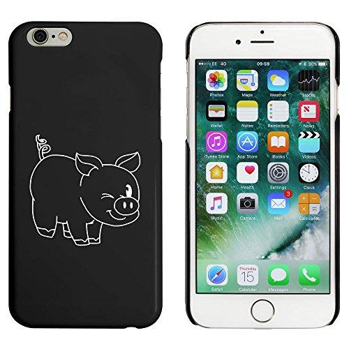Noir 'Cochon Clin d'Oeil' étui / housse pour iPhone 6 & 6s (MC00049865)