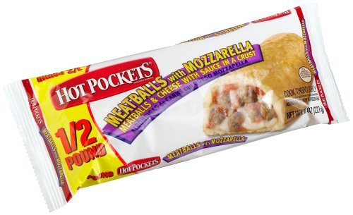 Hot Pockets Meatballs With Mozzarella Individually Wrapped, 8-Ounce (Pack of 12) by Hot Pockets