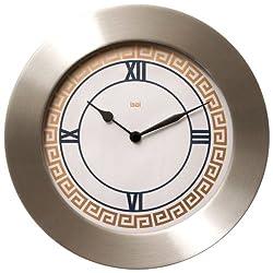 BAI Brushed Aluminum Wall Clock, Athens