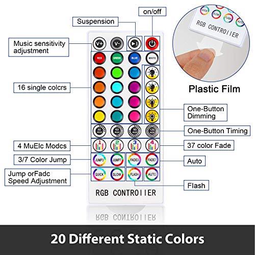 LED Ruban Bluetooth 10m,300LEDs RGB SMD avec télécommande infrarouge 44 touches,12V 33FT Lumière d'Ambiance Décoration pour Exterieur,Chambre,Carnaval,Projecteurs[Classe énergétique A+++]