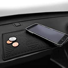 FH GROUP FH3011 Silicone Anti-slip Dash Mat Smartphone Iphone, Iphone Plus, Galaxy, Galaxy Note Coin Grip, Black Color