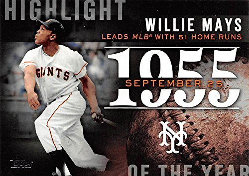 2015 Topps Highlight of the Year #H-43 Willie Mays NY Giants Baseball Card NM-MT (Willie Card Mays)