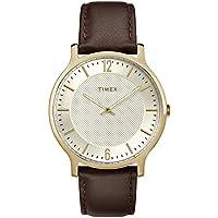 [Patrocinado] Timex TW2R92000 - Reloj de pulsera para hombre (metropolitano, 1.575in), color marrón