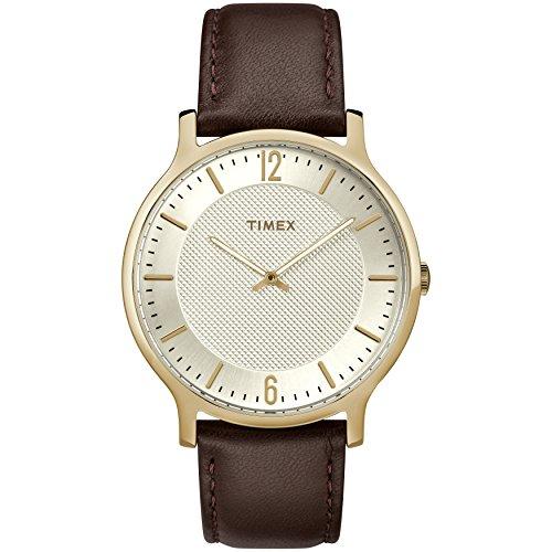 Timex Men's TW2R92000 Metropolitan 40mm Brown/Two-Tone Leather Strap Watch