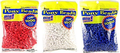 Darice 06121-2-02  Pony Beads, 9mm, 1000 Count, Combo Pack]()