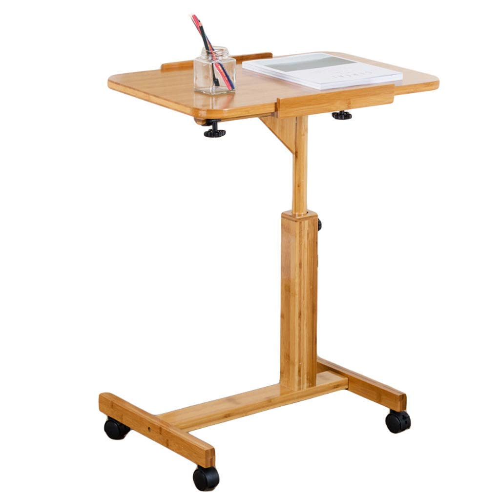 XUEXUE Practical Desk Lazy Movable Bedside Table Laptop Table Desktop Bed Simple Desk Stopper Ledge Computer Work Station Student Dorm Home Office