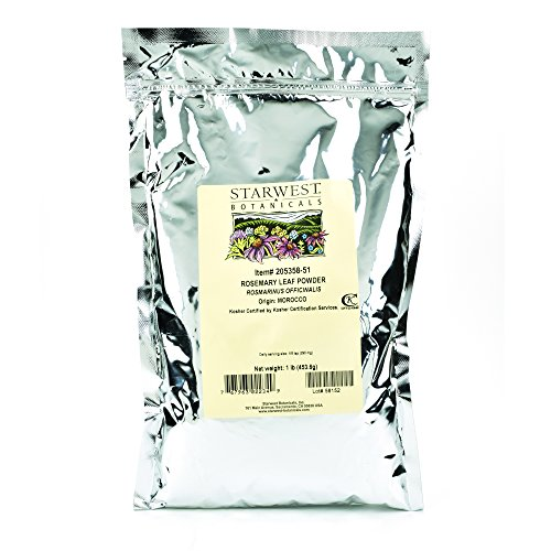 Starwest Botanicals Rosemary Leaf Powder, 1 Pound