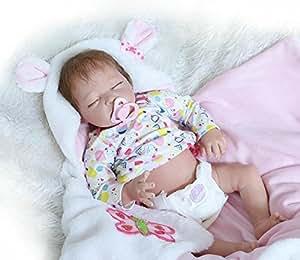 Amazon.com: Dormir muñeco Reborn Girl Half vinilo de ...