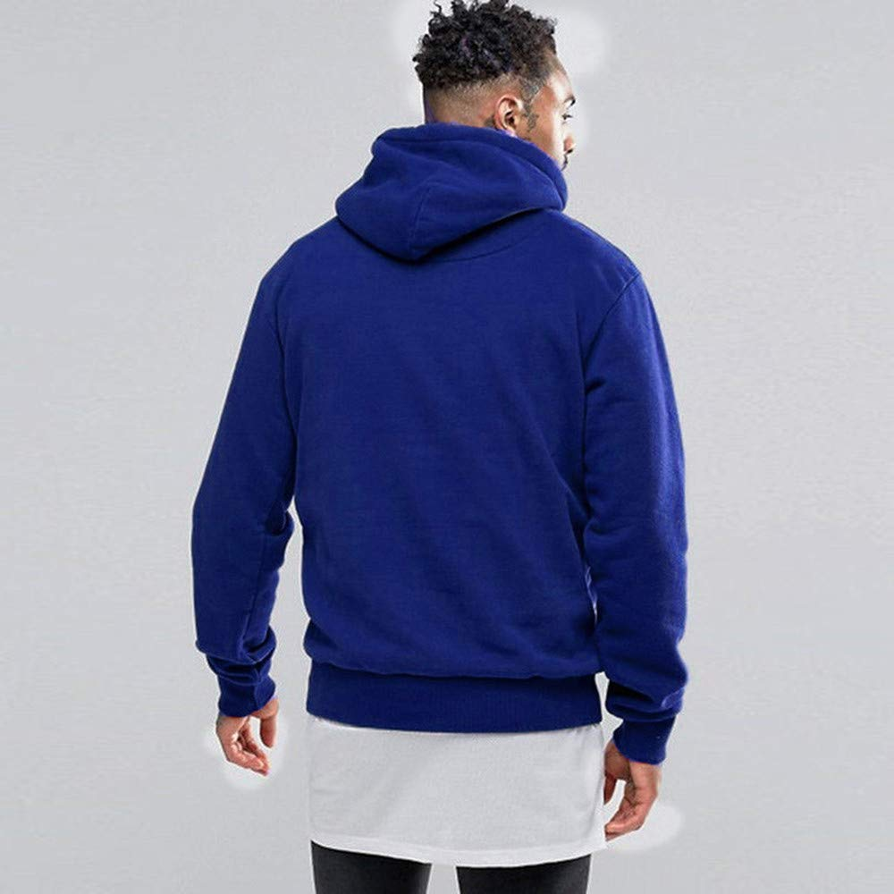 MakeupStore Hoodies for Men Big and Tall Winter Fleece Pocket Hoodie Warm Sweatshirt Outwear Long Sleeve Pullover