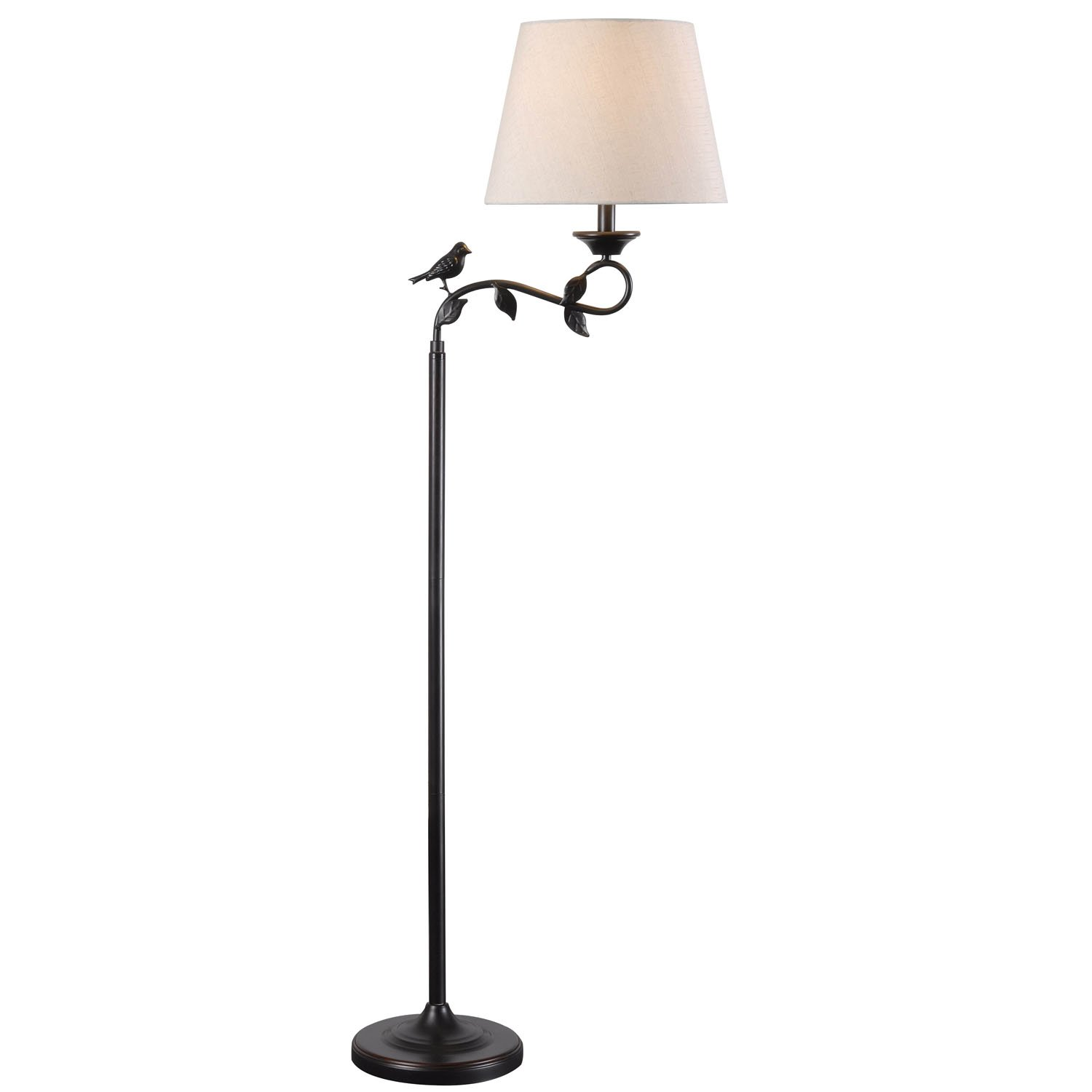 Kenroy Home 32613ORB Birdsong Swing Arm Floor Lamp, 10.12'' x 60'' x 21'', Oil Rubbed Bronze Finish with Gold Highlights