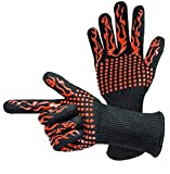 BBQ Gloves 1472°F Extreme Heat Resistant Gloves Non-Slip Insulated Oven Mitts Potholder Perfect