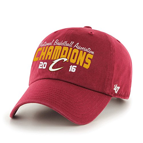 (NBA Cleveland Cavaliers 2016 Champions '47 Clean Up Adjustable Hat, One Size, Cardinal)