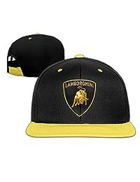 OHYEYE Kids Lamborghini Logo Adjustable Snapback Caps Hip-hop Baseball Hat For Kids