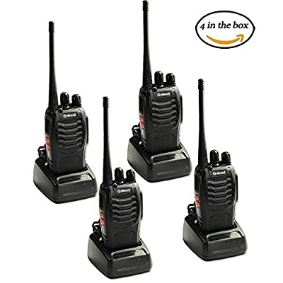 4 PCS Walkie Talkies 16CH Signal Band UHF 400-470 MHz With Rechargeable Li-ion Battery Long Range Two Way Radio Box Contain 4 of Every Item by BaoFeng