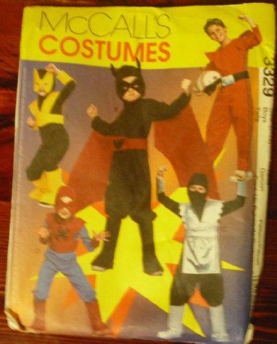 Mccall's Costumes 3329 Superhero Ninja Pattern ()